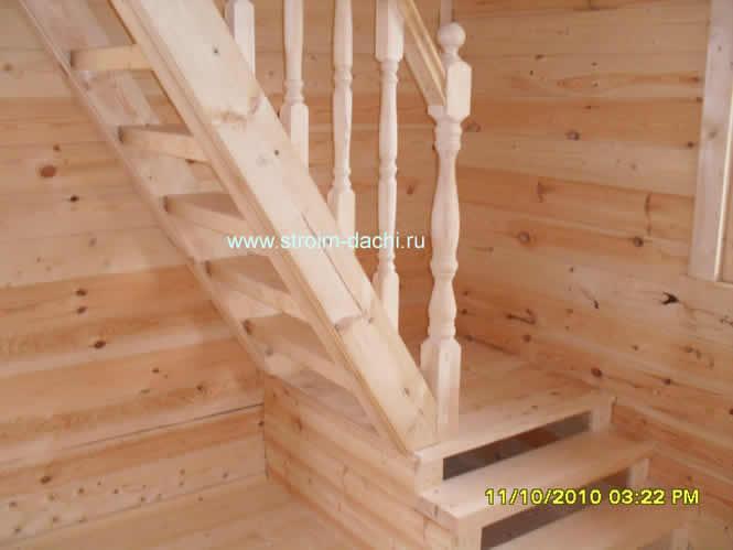 Изготовление перил из дерева для лестниц - По ступенькам