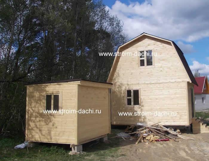 Проект одноэтажного дома из бруса - Фото и цены
