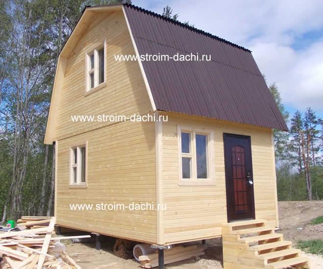 Проект №81 Дачный дом с мансардой 45 м