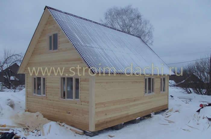 Одноэтажный дачный домик 6 на 6, цена от 315000 рублей